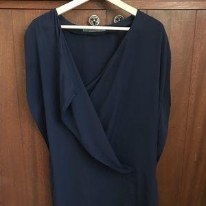 Zara basic navy blue dress Size Small